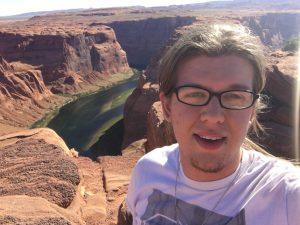 David at the Grand Canyon